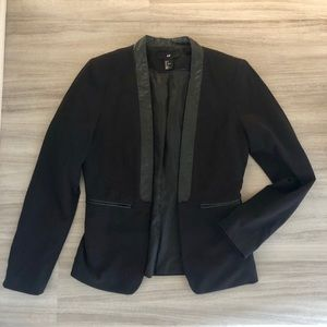 H&M Blazer with leather trimming